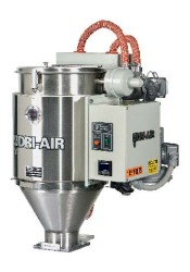 AHM-1 Mini Hopper Mount dryer for throughputs up to 10 pounds per hour.